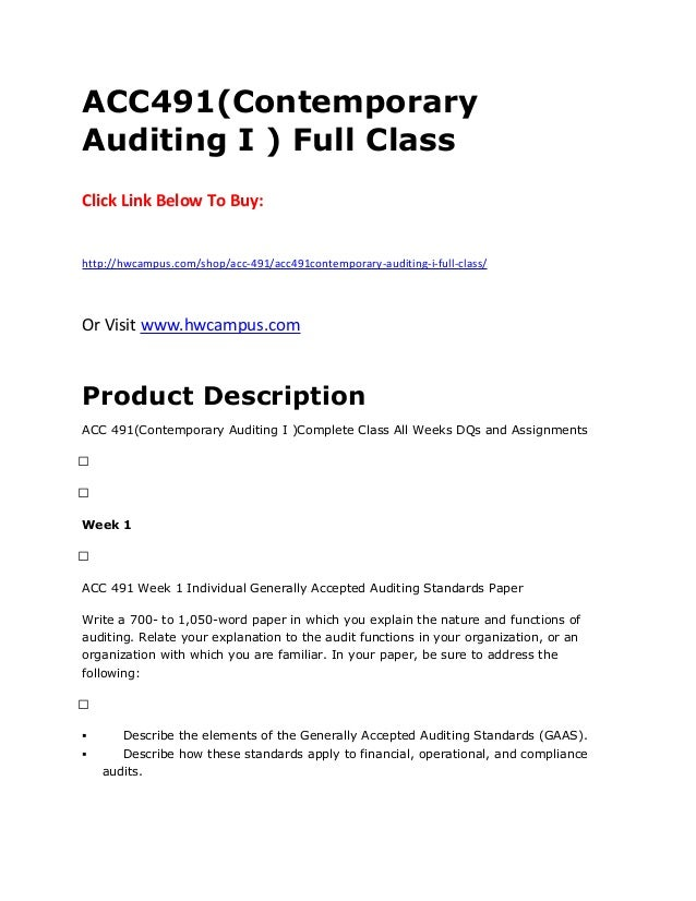auditing assignment 1 Chapter 1 professional standards, audit process, and audit planning i overview of professional standards a exam coverage auditing and attestation chapter 1 professional standards, audit process, and audit planning.