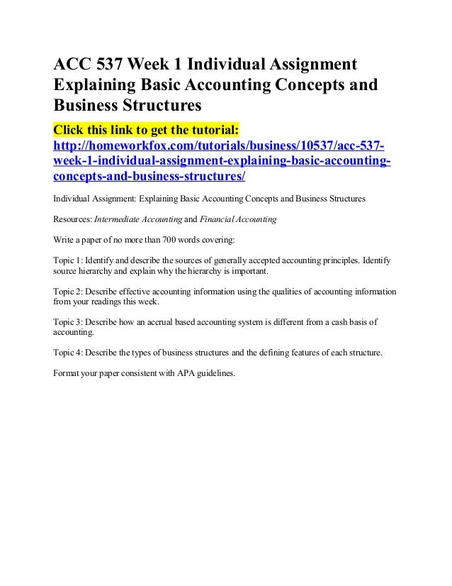 acc 537 explaining basic accounting concepts Accounting conventions - learn accounting basics in simple and easy steps using this beginner's tutorial starting from basic concepts of the accounting.
