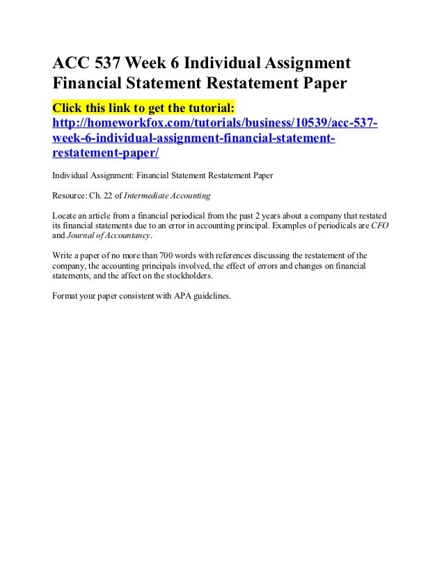 acc 537 financial accounting final exam