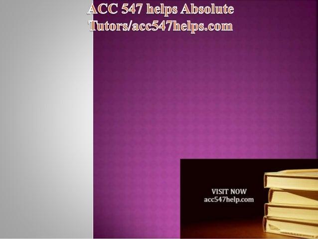 acc 547 week 6 problem set