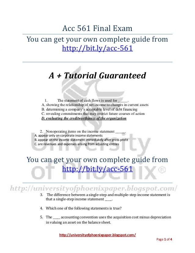 acc 561 final exam questions