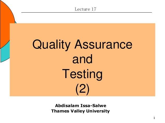 ACCA17(QualityAssurance&Testing)