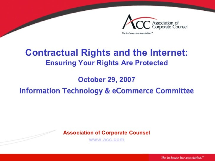 Contractual Rights and the Internet:      Ensur...