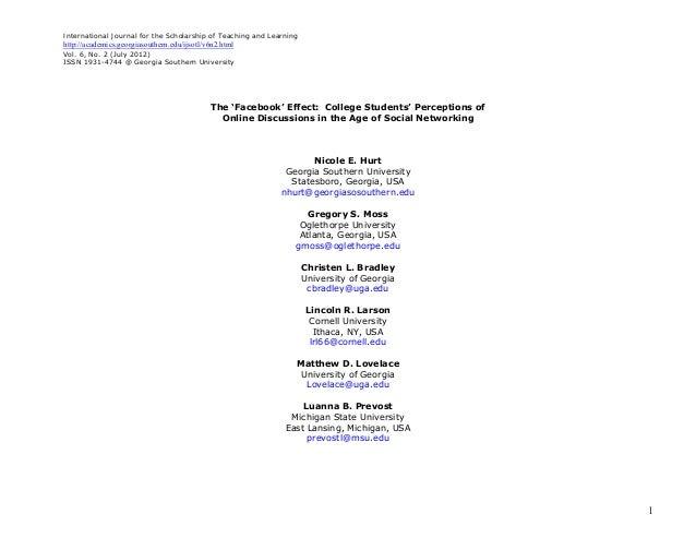 International Journal for the Scholarship of Teaching and Learninghttp://academics.georgiasouthern.edu/ijsotl/v6n2.htmlVol...
