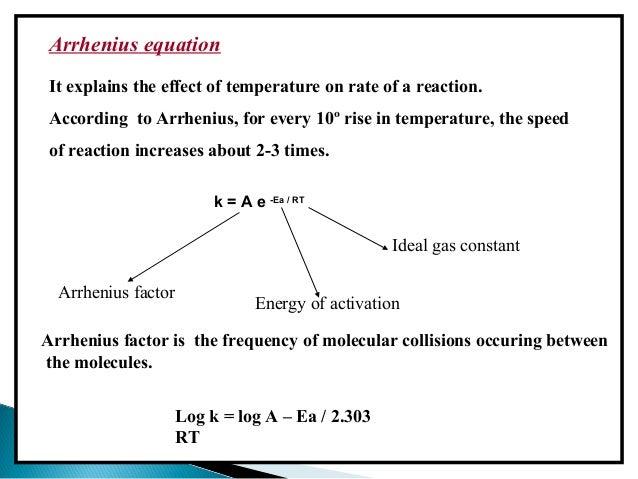 Help with Arrhenius equation ?