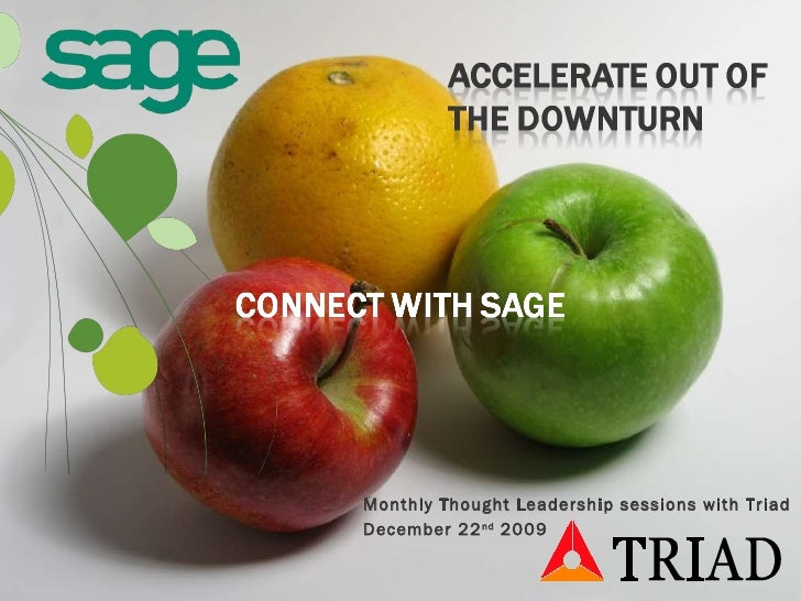 Accelerate From The Downturn Connect With Sage Crm