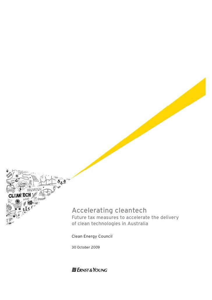 Accelerating Cleantech