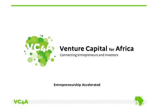 Accelerating entrepreneurship in Africa