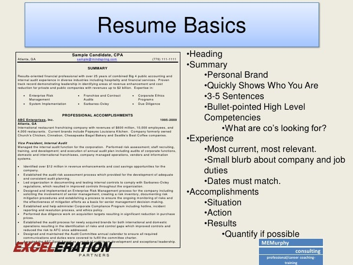 Cpa resume example