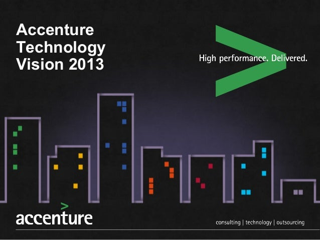Accenture Technology Vision | Innovation World 2013 | San Francisco
