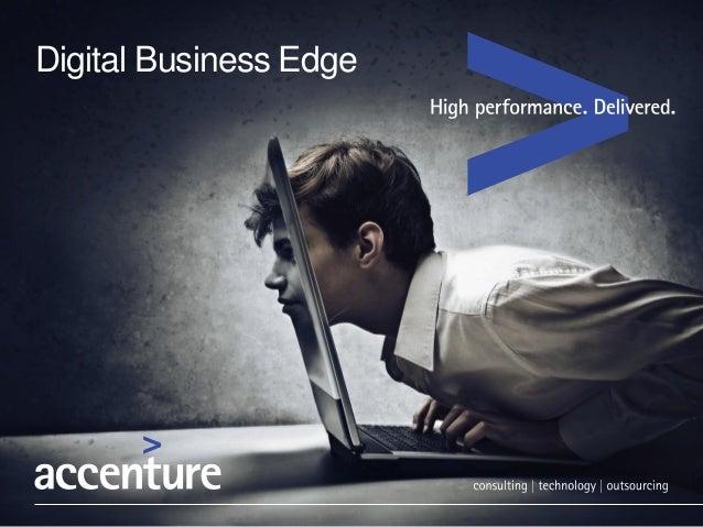 HPMC 2014 - Digital business edge - Accenture