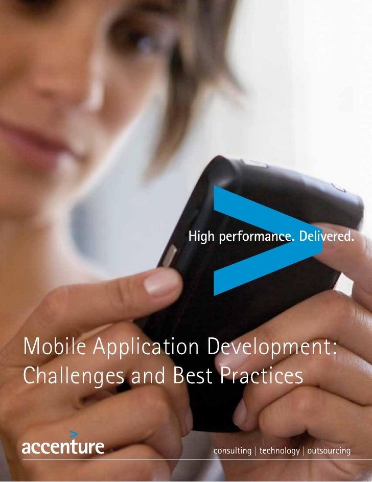 Accenture: mobile application development challenges-best-practices