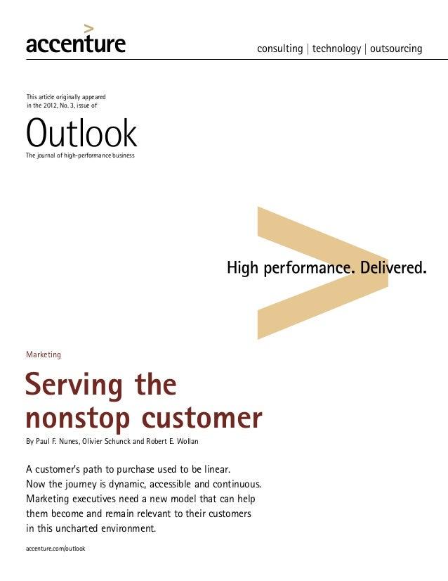 Accenture:  Serving nonstop customer Oct 2012
