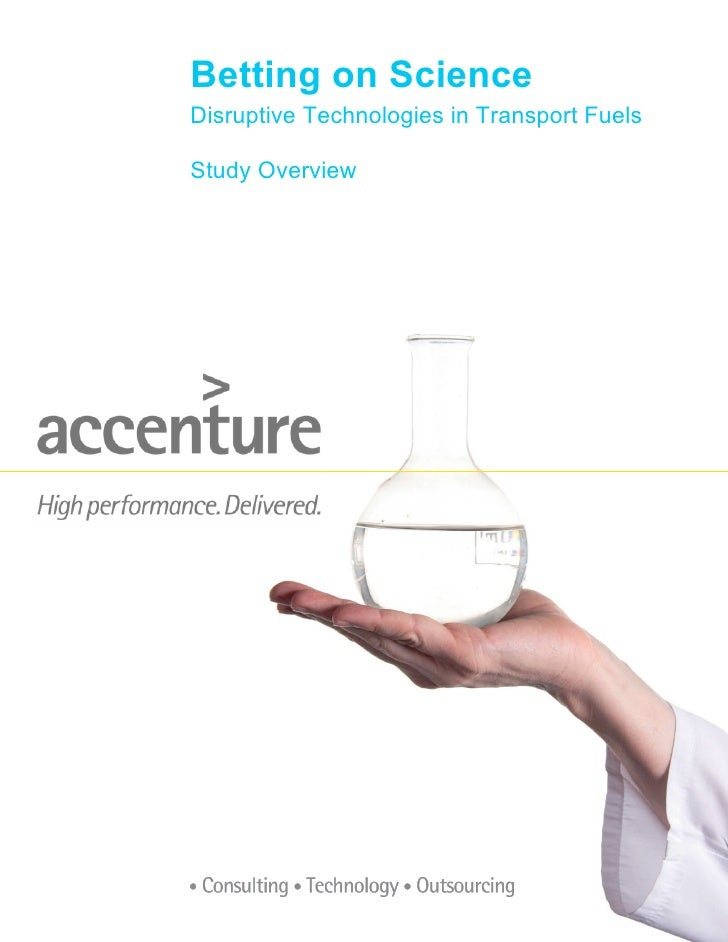 Betting on Science Disruptive Technologies in Transport Fuels  Study Overview
