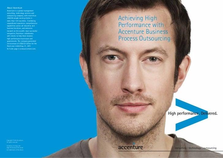 Accenture BPO brochure 2012