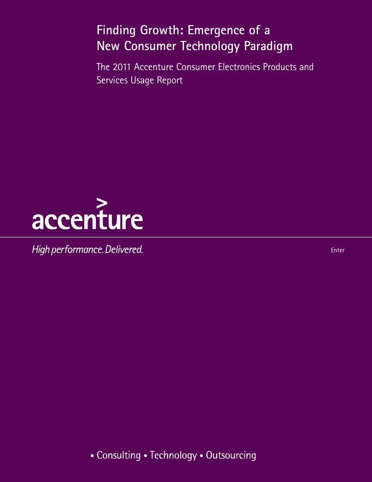 Accenture Global Consumer Tech Research 2011