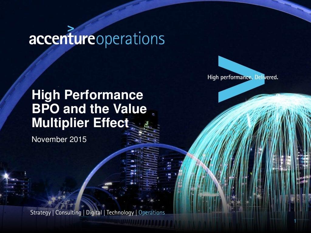 High Performance BPO: The Value Multiplier Effect