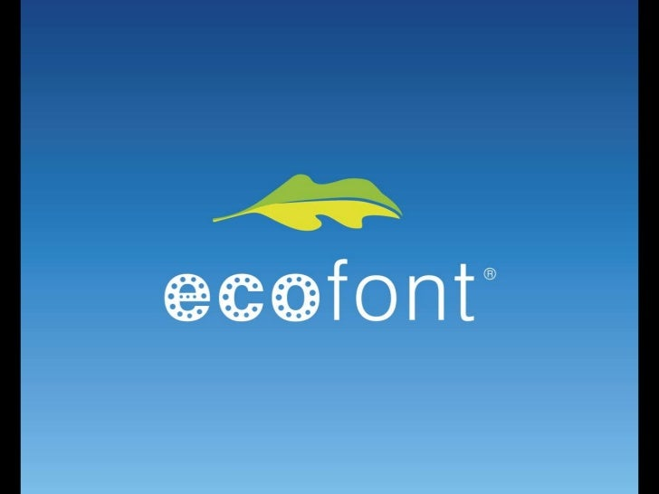 Accenture innovation awards 2011 - Consumer Products & Agri -concept - Ecofont