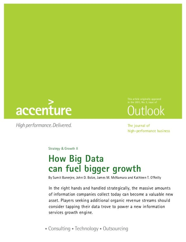 Accenture outlook how big data can fuel bigger growth strategy