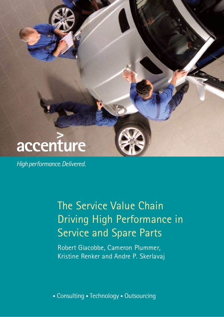 The Service Value ChainDriving High Performance inService and Spare PartsRobert Giacobbe, Cameron Plummer,Kristine Renker ...