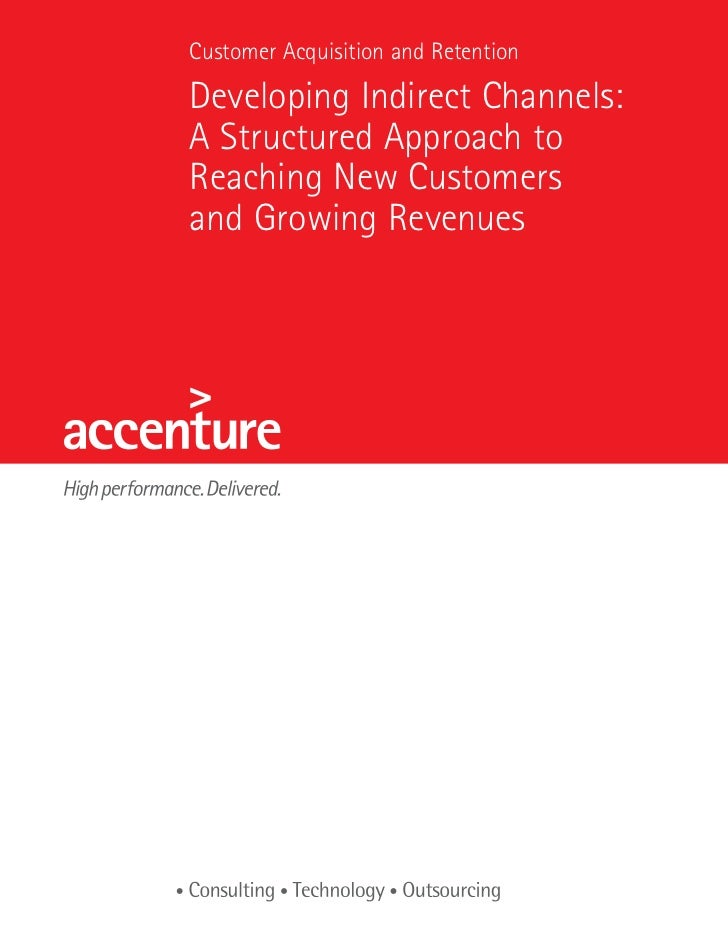Accenture white paper developing indirect channels