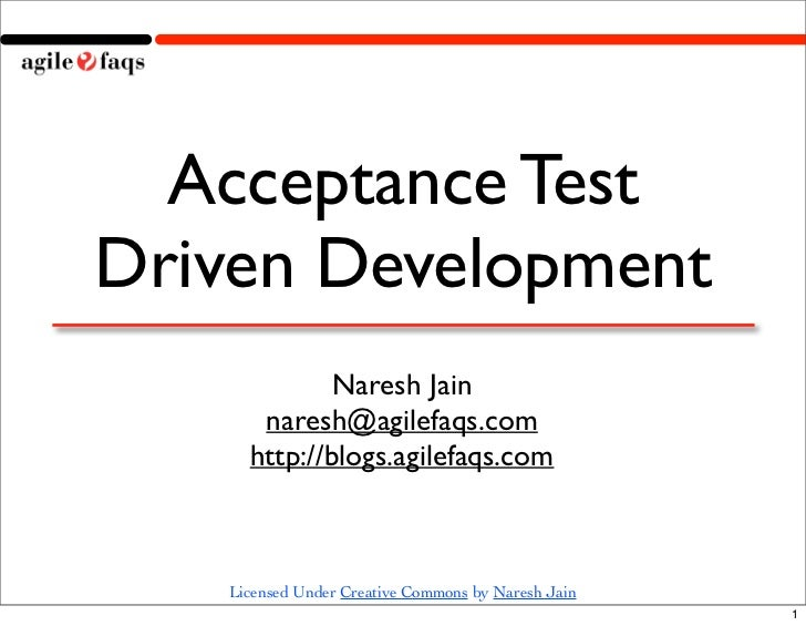 ATDD - Acceptance Test Driven Development