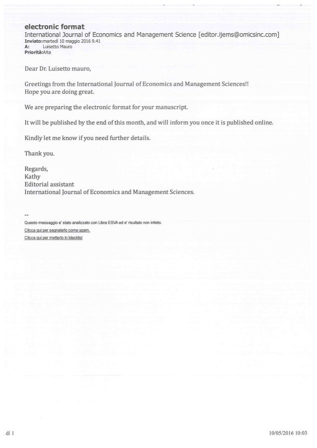 Acceptance Letter Article Professional Social Media To