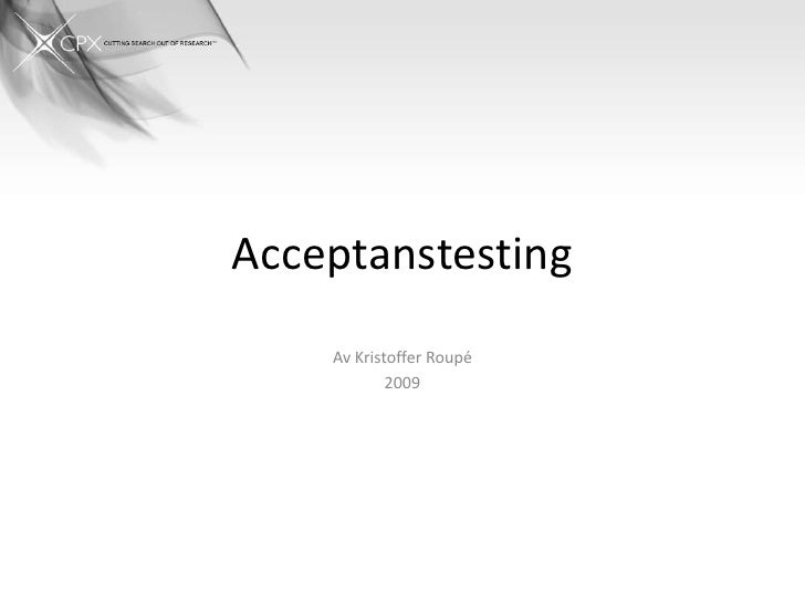 Acceptanstesting