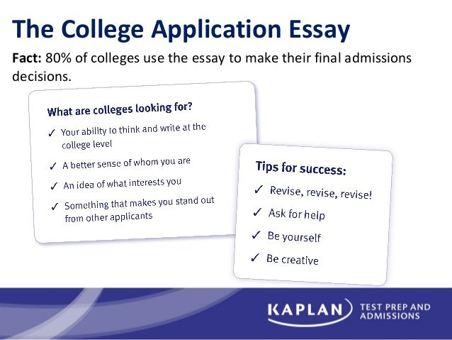 Admission college essay help video