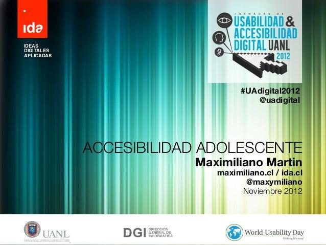 IDEASDIGITALESAPLICADAS                                 #UAdigital2012                                    @uadigital      ...