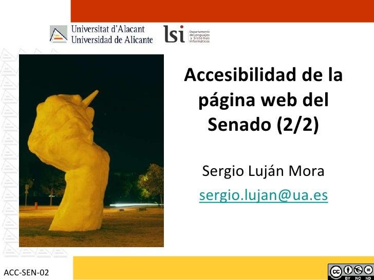 Accesibilidad de la página web del Senado de España (2/2)