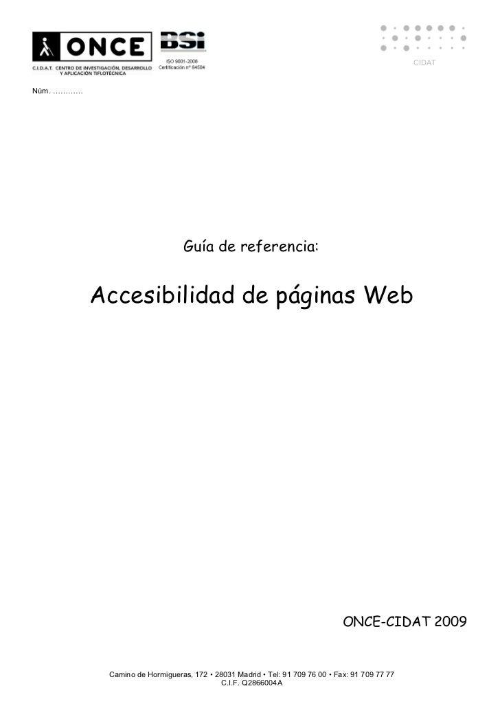 CIDATNúm. …………                                  Guía de referencia:            Accesibilidad de páginas Web               ...