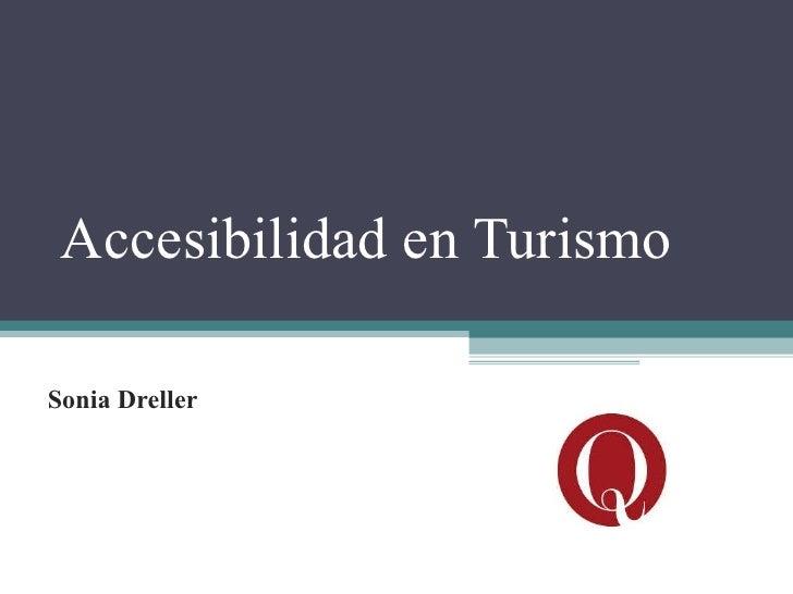 Accesibilidad en turismo