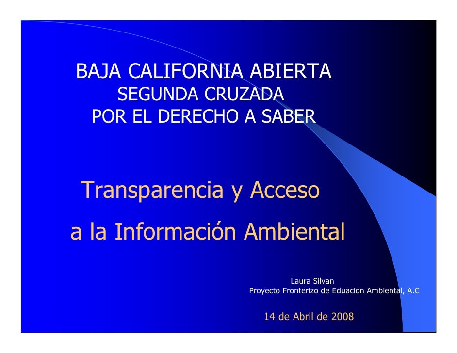 Transparencia y acceso a la información ambiental, Laurie Silvan