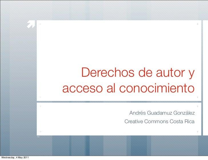 æ                           Derechos de autor y                        acceso al conocimiento                            ...