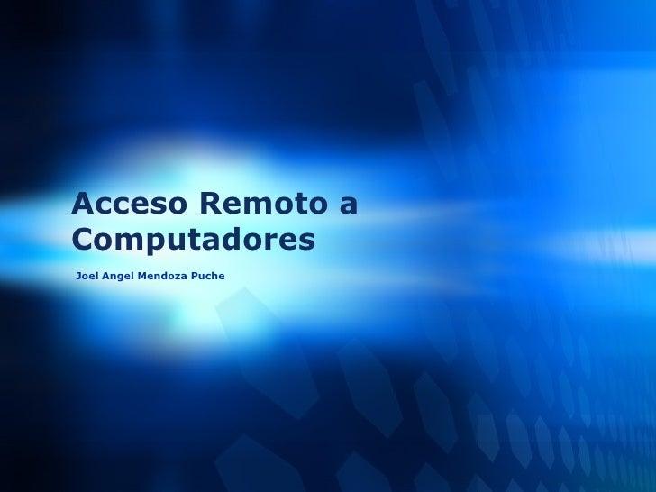 Acceso Remoto A Computadores