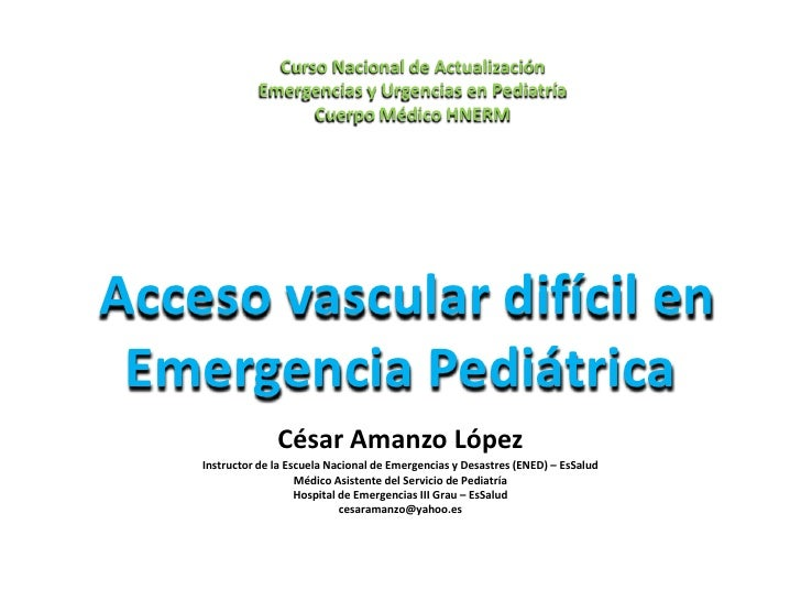 Acceso vascular difícil_pediatría_2010
