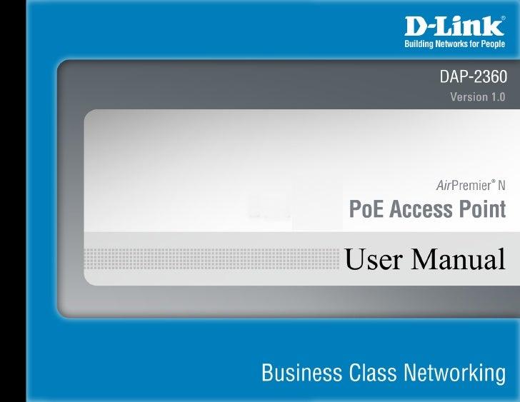 Acces point dap 2360 manual