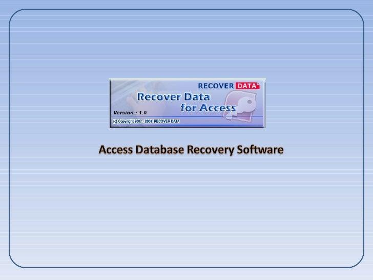 Access database Repair software