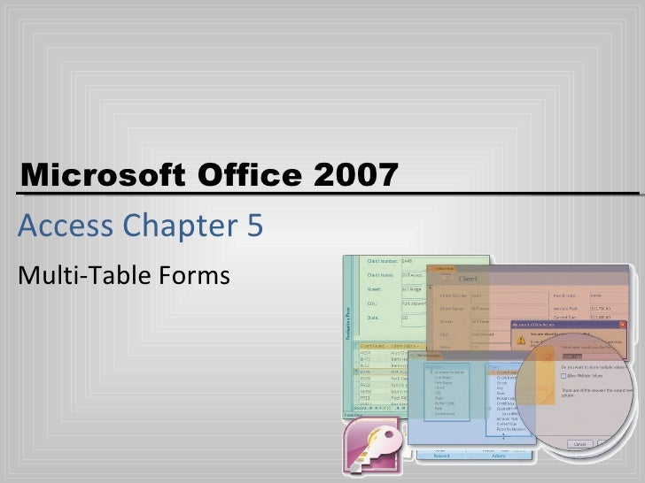 Access Ch5   Multi Table Forms (Jy)