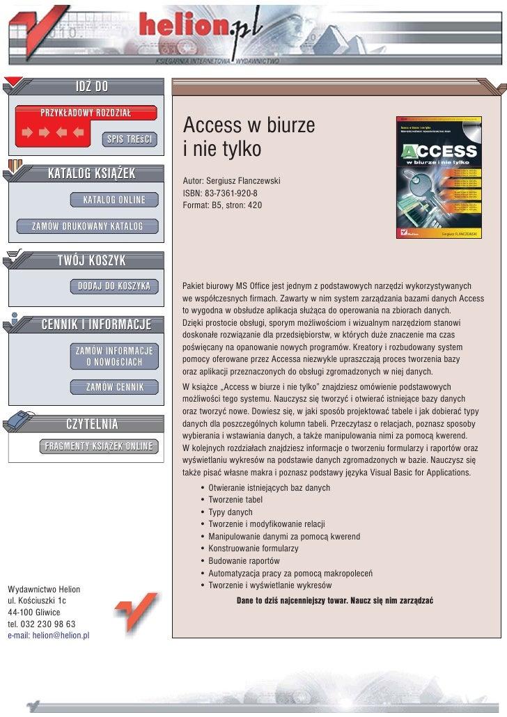 Access w biurze i nie tylko