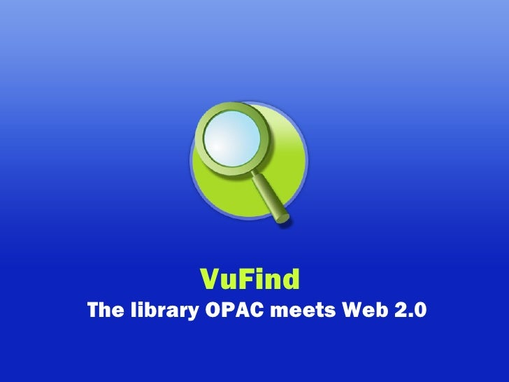 VuFind    The library OPAC meets Web 2.0