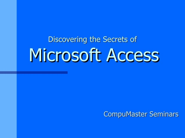 Access 2 day course