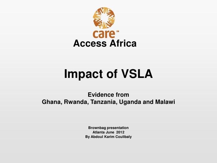 Access Africa Impact: Brown-bag Atlanta June 2012