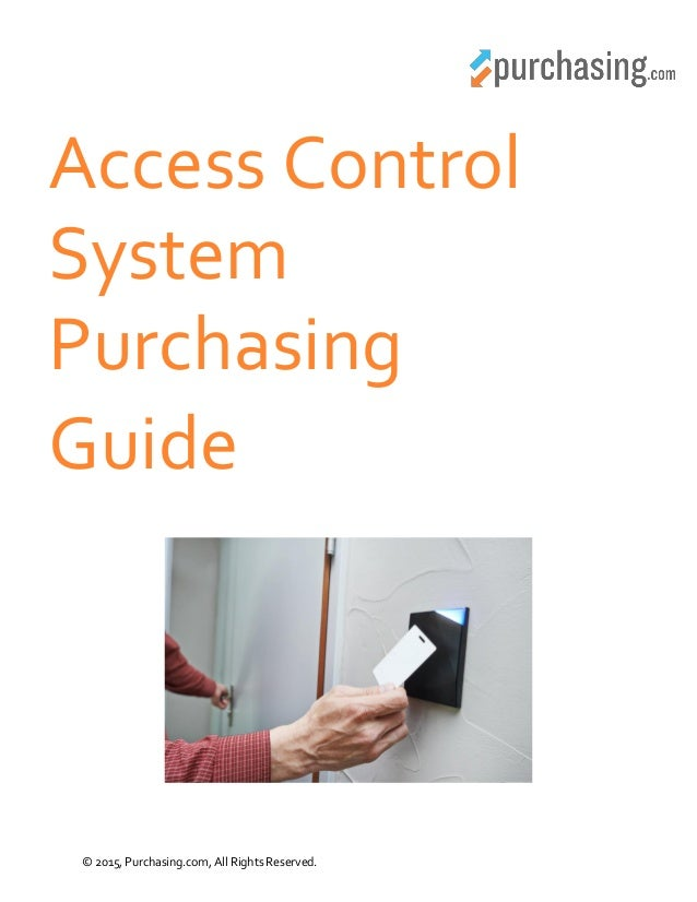 procedure guide on access control essay Quality control and quality assurance must be integrated into every step of the inventory development process thus, undertaking checks and procedures at every stage of estimation and.