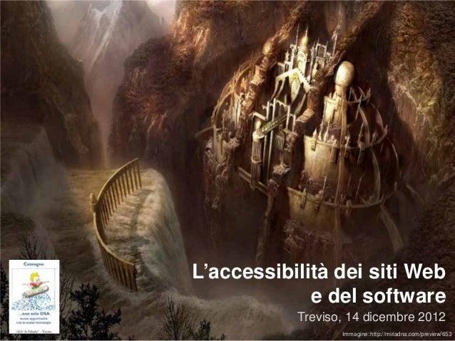 L'accessibilità dei siti Web                 e del software       Roberto Scano (mail@robertoscano.info)                  ...