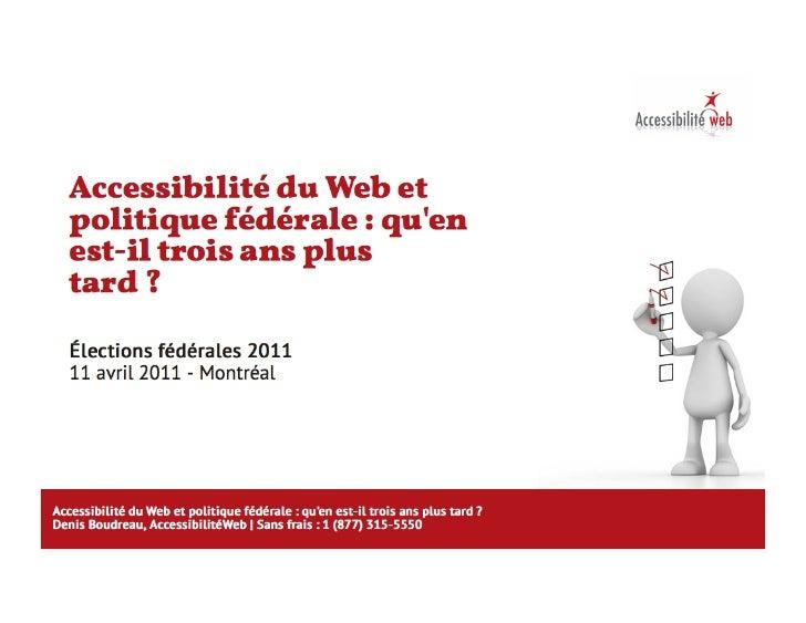 Accessibilite federales-2011
