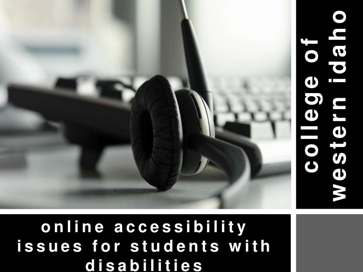 Online Accessibility for Students with Disabilities