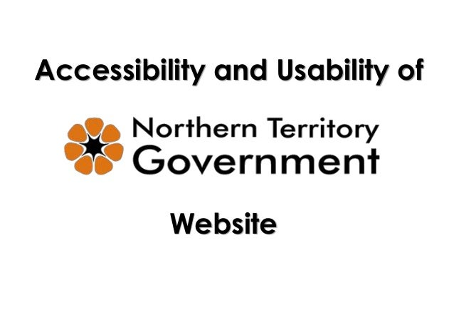 Accessibility and usability