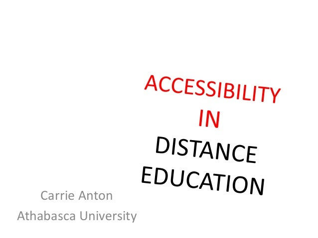 Accessibility in distance education (ASSC 2013)